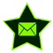 a star-shaped image with the standard email envelope icon. Click or press to navigate to All Star Taxi's contact page.