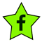 a star-shaped image with the f logo of Facebook. Click or press to navigate to All Star Taxi's Facbook page.