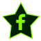 a star-shaped image with the f logo of Facebook. Click or press to navigate to All Star Taxi's Facebook page.